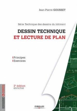 Dessin technique et lecture de plan - eyrolles - 9782212136227 -