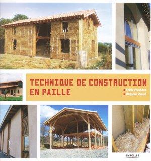 Techniques de construction en paille - eyrolles - 9782212138092 -