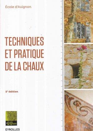 Techniques et pratique de la chaux - eyrolles - 9782212144710 -