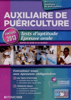 Tests d'aptitude - Épreuve orale 2013 - foucher - 9782216122486 -