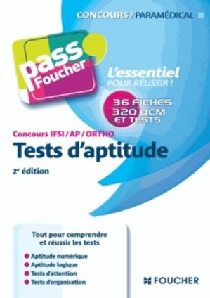 Tests d'aptitude  Concours IFSI / AP / Ortho - foucher - 9782216122554 -