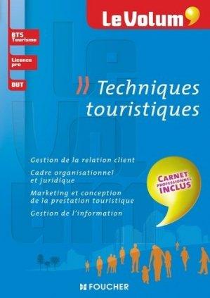 Techniques touristiques - foucher - 9782216128235 -
