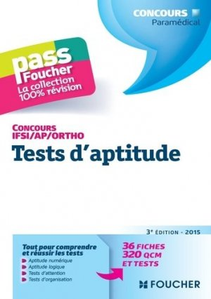 Tests d'aptitude  Concours IFSI / AP / Ortho - foucher - 9782216128884 -