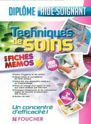 Techniques de soins - Aide-soignant - foucher - 9782216134106