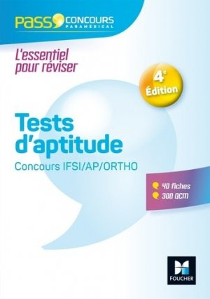 Tests d'aptitude Concours IFSI/AP/Ortho-foucher-9782216148172