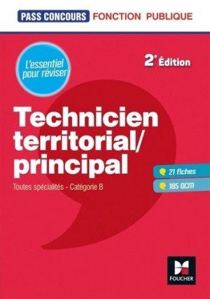 Technicien territorial/principal. Toutes spécialités, catégorie B, 2e édition - Foucher - 9782216149674 -