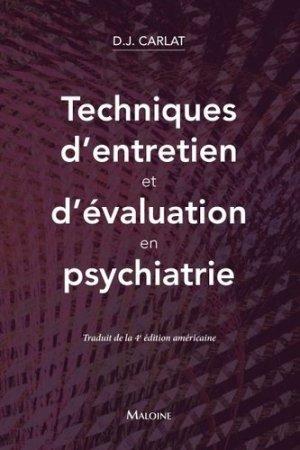 Techniques d'entretien et d'évaluation en psychiatrie - maloine - 9782224035266 -