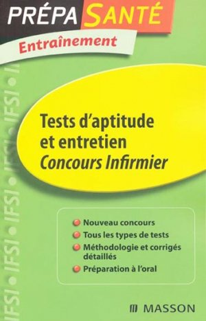 Tests d'aptitude et entretien - elsevier / masson - 9782294707889 -