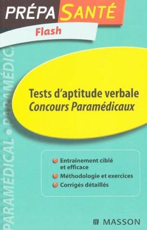 Tests d'aptitude verbale  - elsevier / masson - 9782294707896 -
