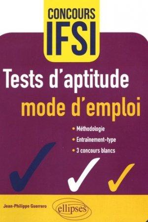 Tests d'aptitude : mode d'emploi - ellipses - 9782340016378 -