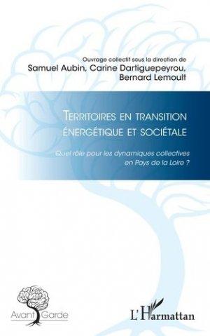Territoires en transition énergétique et sociétale - l'harmattan - 9782343140889 -