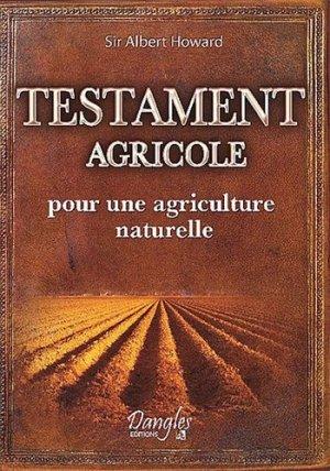 Testament agricole - dangles éditions - 9782703308409 -