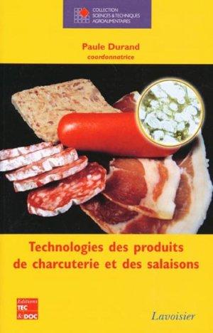 Technologies des produits de charcuterie et des salaisons - lavoisier / tec et doc - 9782743007942 -