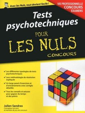 Tests psychotechniques pour les Nuls Concours - first - 9782754080149 -