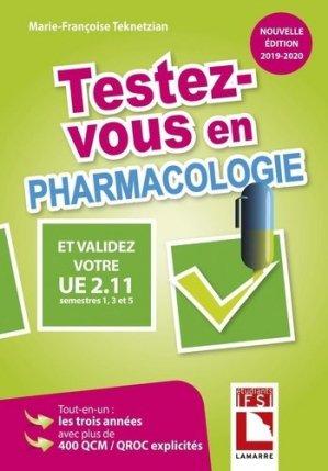 Testez-vous en pharmacologie et validez votre UE 2.11 - lamarre - 9782757310748 -