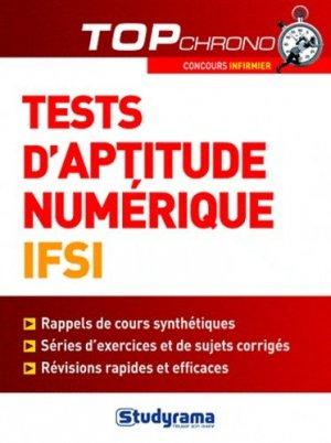 Tests d'aptitude numérique IFSI - studyrama - 9782759015153 -