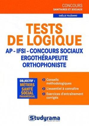 Tests de logique - studyrama - 9782759016488 -