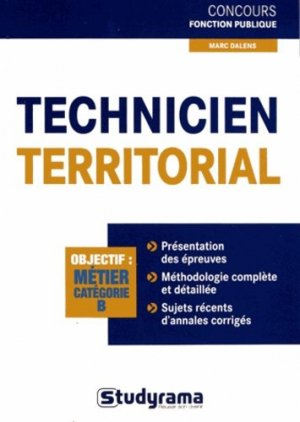 Technicien territorial - Studyrama - 9782759023189 -