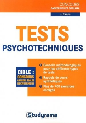 Tests psychotechniques - studyrama - 9782759025169 -