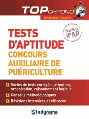 Tests d'aptitude auxiliaire de puériculture - studyrama - 9782759026371 -