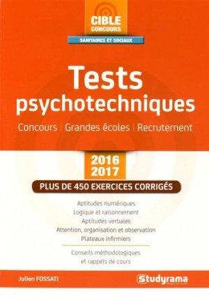 Tests psychotechniques 2016-2017 - studyrama - 9782759031870 -