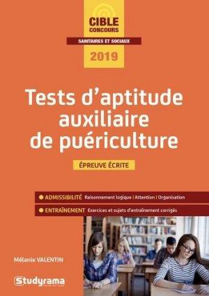 Tests d'aptitude auxiliaire de puériculture - studyrama - 9782759039845 -