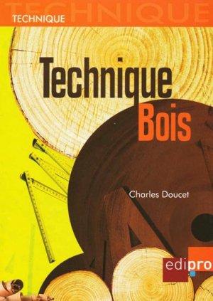 Technique Bois - edipro - 9782874960819 -
