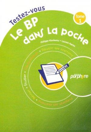 Testez-vous Le BP dans la poche Tome 1 - wolters kluwer - 9782915585193 -