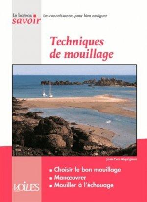 Techniques de mouillage - voiles et voiliers - 9782916083629 -