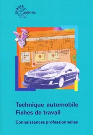 Technique automobile  - Fiches de travail - europa lehrmittel - 9783808523612 -