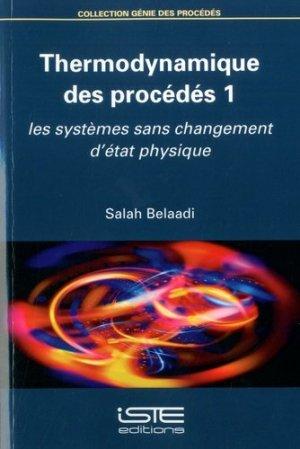 Thermodynamique des procédés - iste  - 9781784055912 -