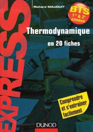 Thermodynamique en 20 fiches BTS - dunod - 9782100588305 -
