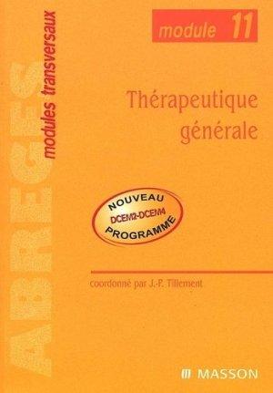 Thérapeutique générale - elsevier / masson - 9782294010767 -