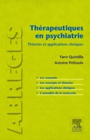 Thérapeutiques en psychiatrie - elsevier / masson - 9782294739088
