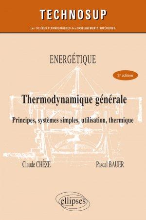 Thermodynamique générale Niveau B - ellipses - 9782340033184 -