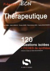 Thérapeutique - s editions - 9782356401502