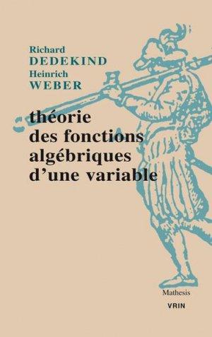 Théorie des fonctions algébriques d'une variable - Vrin - 9782711628643 -