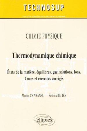 Thermodynamique chimique-ellipses-9782729865016