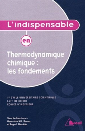 Thermodynamique chimique : les fondements - breal - 9782749502649 -
