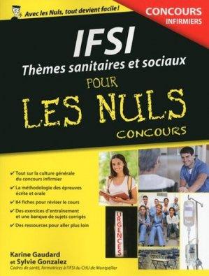 Thèmes sanitaires et sociaux pour les Nuls Concours - first - 9782754080224 -