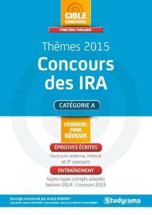 Thèmes 2015 concours des IRA - Studyrama - 9782759026418 -