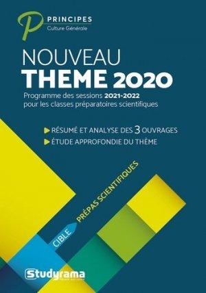 Thème de l'année prépas scientifiques. Edition 2020 - Studyrama - 9782759044597 -
