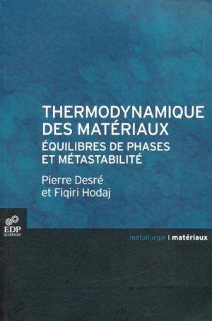 Thermodynamique des matériaux - edp sciences - 9782759804276 -