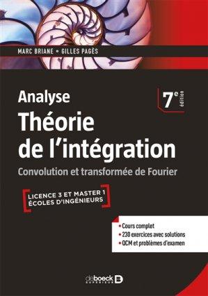 Théorie de l'intégration, analyse - de boeck superieur - 9782807317888