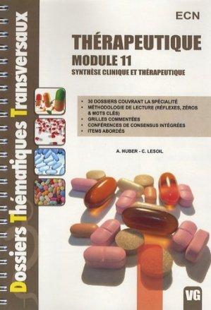 Thérapeutique Module 11 - vernazobres grego - 9782818303580 -