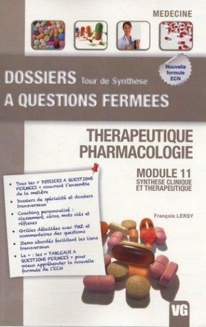 Thérapeutique - Pharmacologie - vernazobres grego - 9782818304594 -