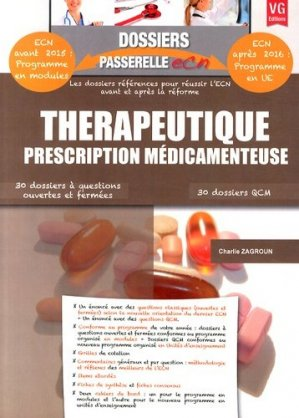 Thérapeutique - Prescription médicamenteuse - vernazobres grego - 9782818312001 -