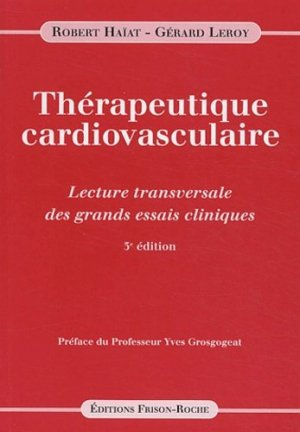 Thérapeutique cardiovasculaire - frison roche - 9782876714427 -