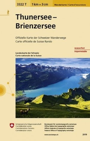 Thunersee, brienzerseeindechirable et résistante eau - Bundesamt Fur Landestopographi - 9783302333229 -