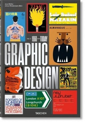 The history of graphic design. Volume 2, 1960-Today, Edition français-anglais-allemand - Taschen - 9783836570374 -